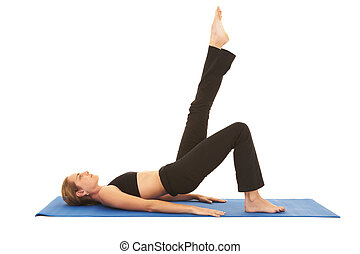 pilates, übung, reihe