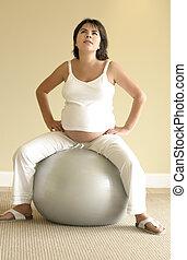 pilates, 為, 懷孕