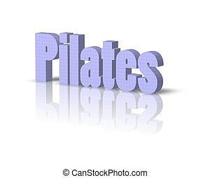 pilates 3d word