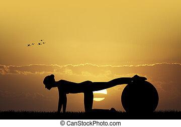 Pilates - illustration of pilates