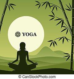 pilates, joga, hintergrund