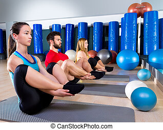 Pilates people group the seal exercise group - Pilates...