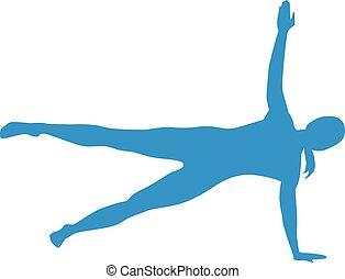 pilates, silhouetten