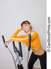 pilates woman stability ball gym fitness yoga exercises