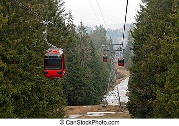 Pilatus Mountain Landscape Switzerland - Rad cable car at...