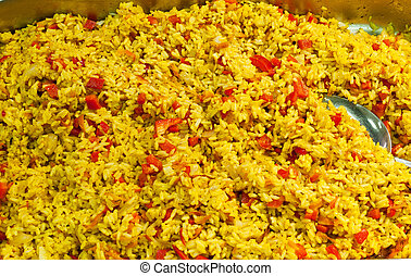 pilau, spicy rice with vegetables