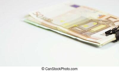 pile, agrafe, euro