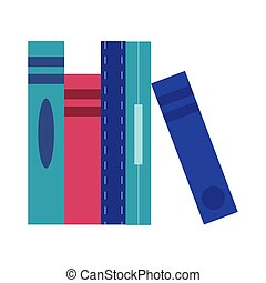 pile books flat style icon