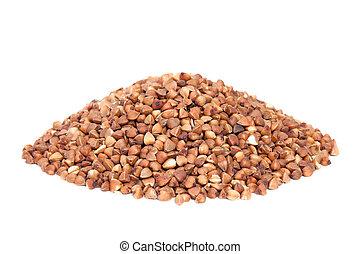 Pile Buckwheat isolated on white background.