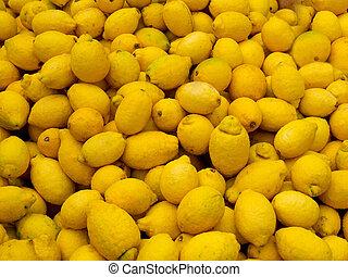 pile, citrons