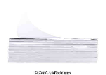 feuille papier a4 blanc pile taille feuille sur isol papier a4 fond blanc pile. Black Bedroom Furniture Sets. Home Design Ideas