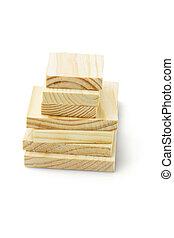 pile, de, blocs bois