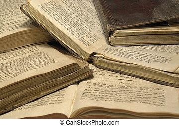 pile, de, historique, livres