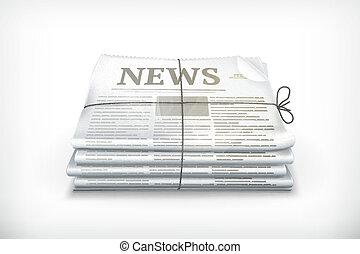 pile, de, journaux