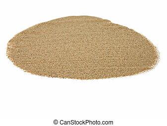 pile desert sand isolated on white