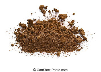 pile dirt isolated on white