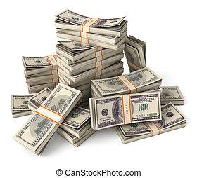 pile dollars