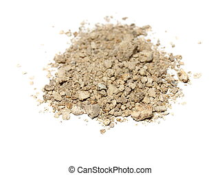 pile dry dirt isolated on white