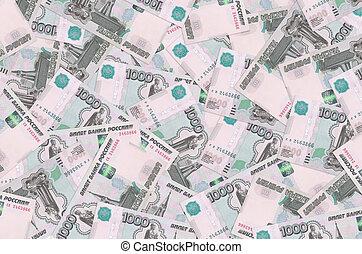 pile., factures, vie, grand, mensonges, rubles, russe, 1000, conceptuel, riche, fond