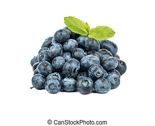 Pile fresh blueberries