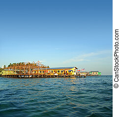 Pile houses, Mabul (two)