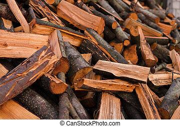 pile of alder wood