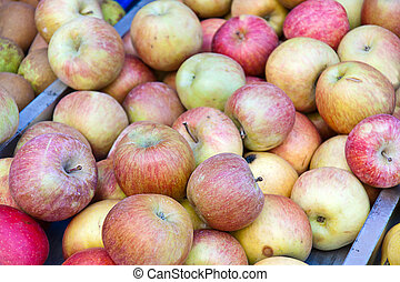 Pile of apples in a market