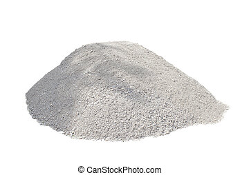 pile of ballast ground isolated on white background
