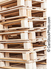 Pile of beech pallets