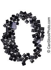 Pile of black computer keys