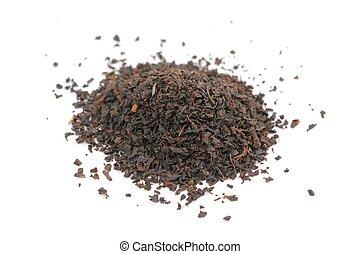 Pile of Black Tea Isolated on White Background