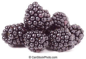 pile of blackberry isolated on white background