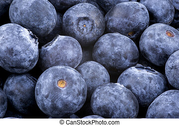 Pile of Blueberries Close Up View