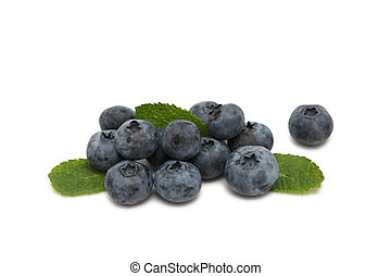 Pile of blueberry (isolated)