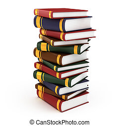pile of books 3d illustration