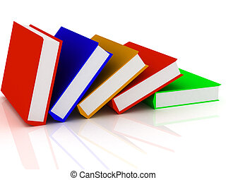 Pile of books - 3d render of Pile of books. Education...