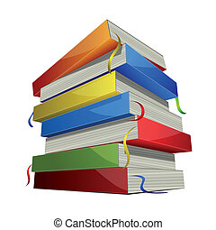 Pile of books - Pile of colored books