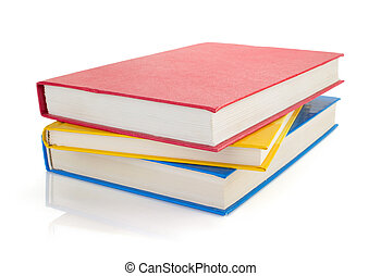 pile of books isolated on white