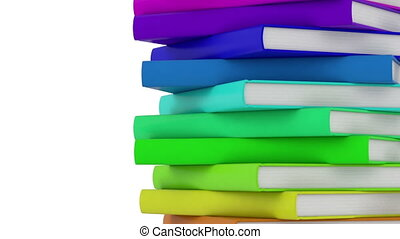 pile of books - high quality 3d animation - endless loop