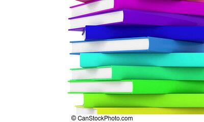 pile of books loop