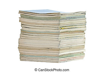 Pile of books with clipping path
