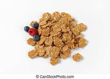 pile of breakfast cereal