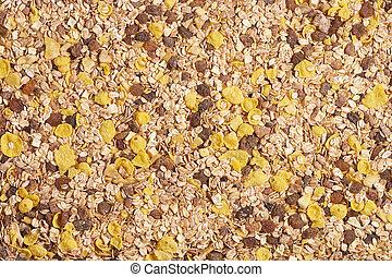 pile of breakfast cereals