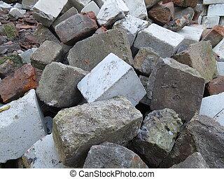 pile of bricks