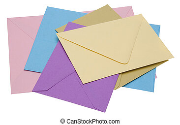 Pile of Bright Envelopes