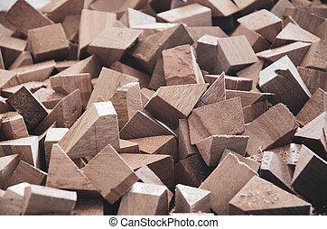 Pile of broken wood