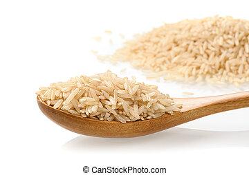 pile of brown rice