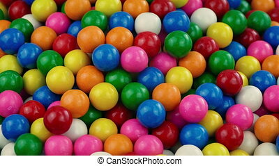 Pile Of Candy Gum Balls - Brightly colored gumballs in pile