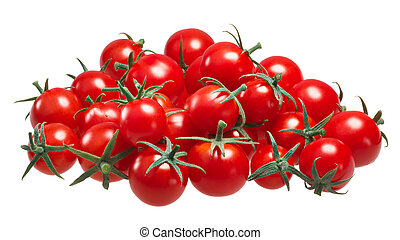 Pile of cherry pachino tomatoes, paths