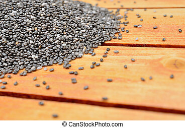 pile of chia seed on table